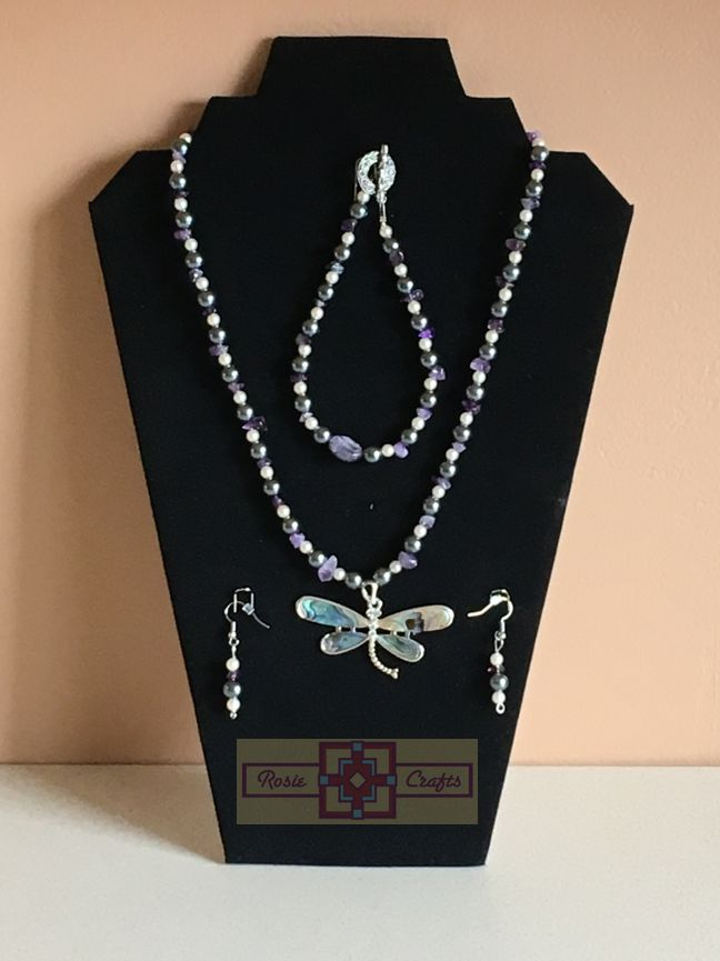 Rosie Crafts Dragonfly Artisan Jewelry Set