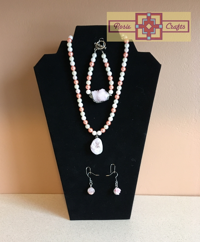 Artisan Tribes Rose Quartz Southwest Jewelry Set