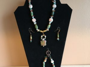 Artisan Tribes Southwest Unakite Spirit Turtle Jewelry Set