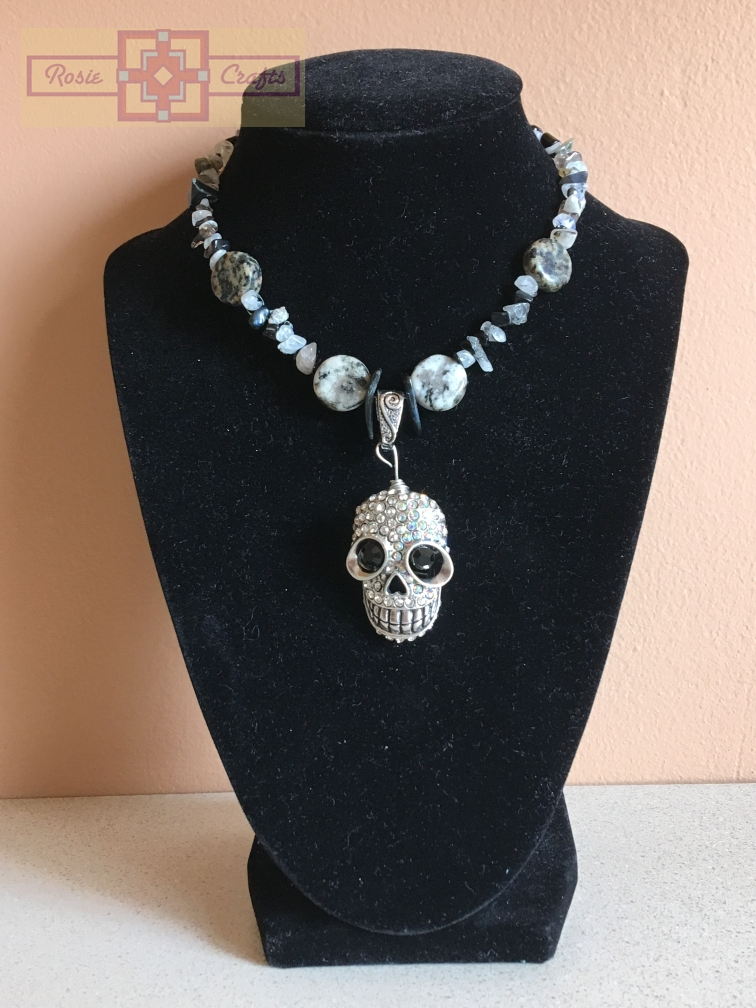 "Rosie Crafts ""Gothic Skull"" Necklace"
