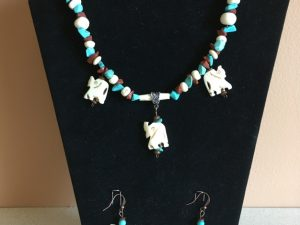 Artisan Tribes Elephant Family Jewelry Set
