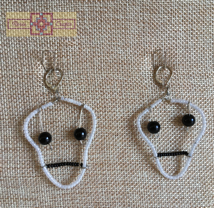 Rosie Crafts Halloween Skeleton Earrings