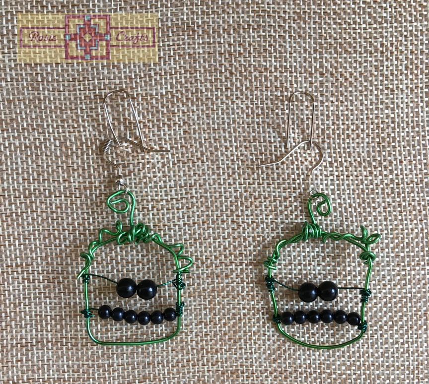 Rosie Crafts Halloween Frankenstein Earrings