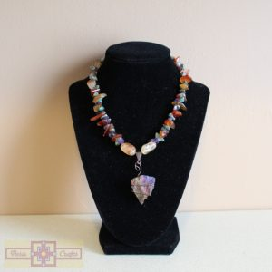 Artisan Tribes Peacock Ore Necklace